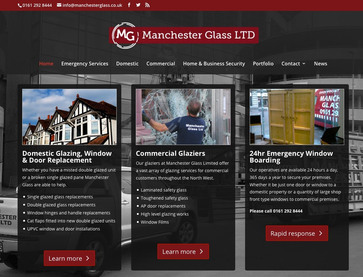 New Manchester Glass Website